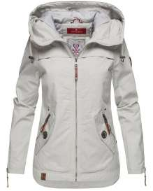 Ladies transition jacket Wekoo - Light Grey with dots