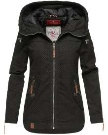 Ladies transition jacket Wekoo - Black with dots