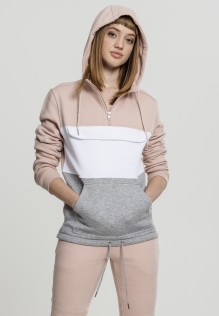 Ladies Color Block Sweat Pull Over Hoody Livia