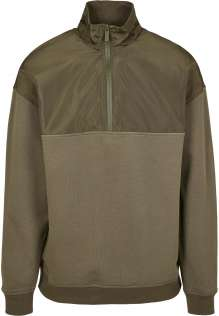 Male fleece pullover Military Troyer