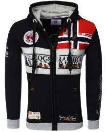 Hooded Sweatjacket Geographical Norway Flyer