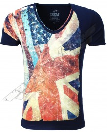 T-shirt USA-UK flag