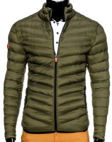 Men camo winter jacket Ombre C299