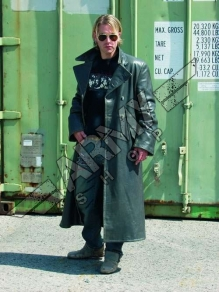 Officer Leather Coat