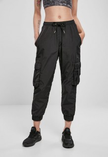 Ladies High Waist Crinkle Nylon Cargo Pants Jodie